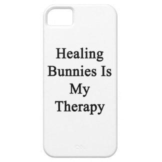 Los conejitos curativos son mi terapia iPhone 5 Case-Mate cárcasas