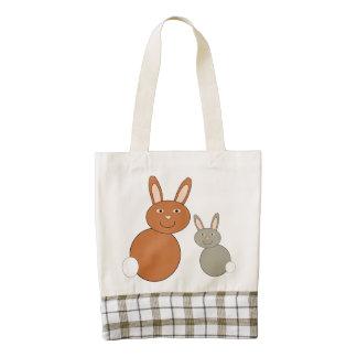 Los conejitos del día de madres personalizaron el bolsa tote zazzle HEART