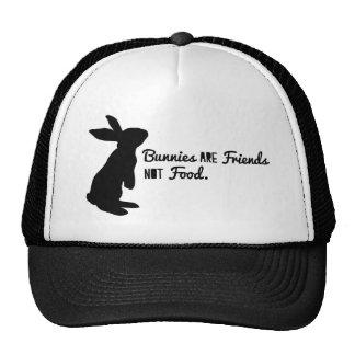 ¡Los conejitos son amigos, no comida! Gorro