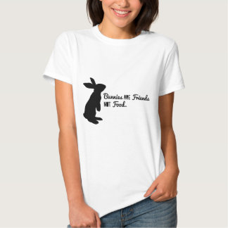 ¡Los conejitos son amigos, no comida! Playeras