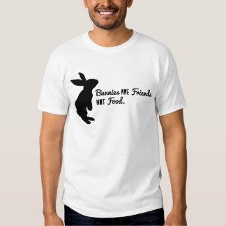 ¡Los conejitos son amigos, no comida! Poleras