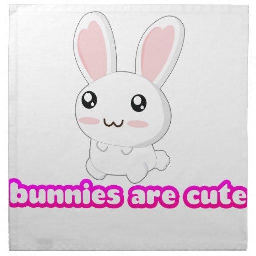 Los conejitos son lindos - conejito de los conejos servilletas imprimidas