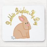 Los conejos aclaran mi día tapete de ratones