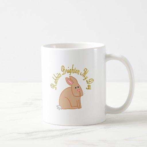 Los conejos aclaran mi día taza