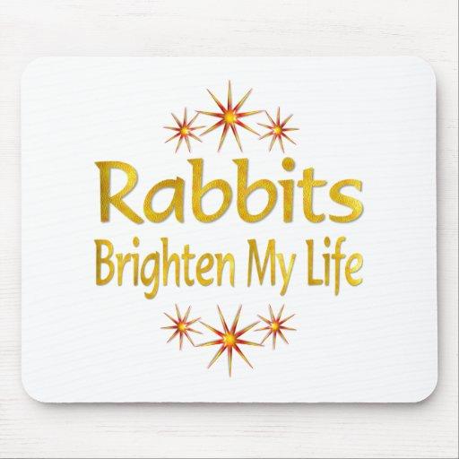 Los conejos aclaran mi vida alfombrillas de ratones