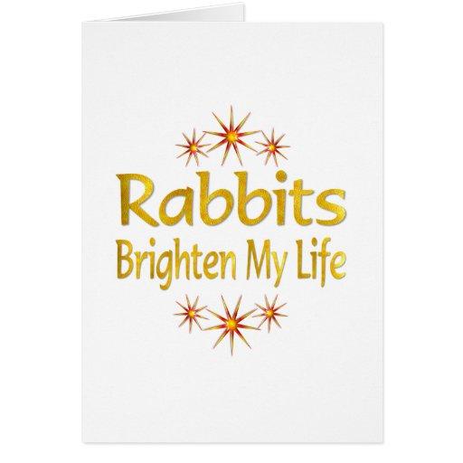 Los conejos aclaran mi vida tarjeton