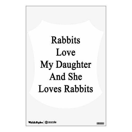 Los conejos aman a mi hija y ella ama conejos