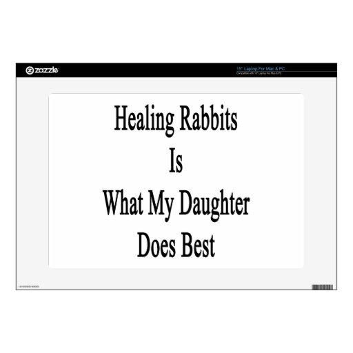 Los conejos curativos son lo que hace mi hija mejo 38,1cm portátil calcomanía