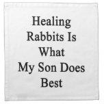 Los conejos curativos son lo que hace mi hijo mejo servilleta imprimida