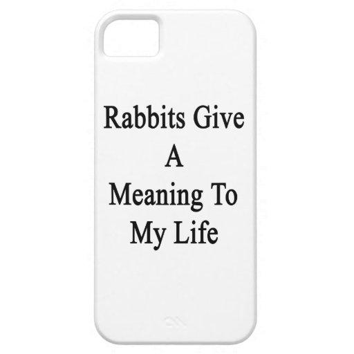 Los conejos dan un significado a mi vida iPhone 5 carcasas