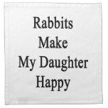 Los conejos hacen a mi hija feliz servilleta de papel