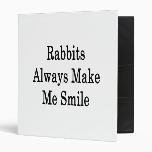 Los conejos hacen siempre que sonríe
