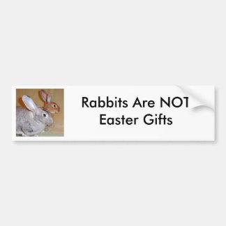 Los conejos no son regalos de Pascua Pegatina De Parachoque