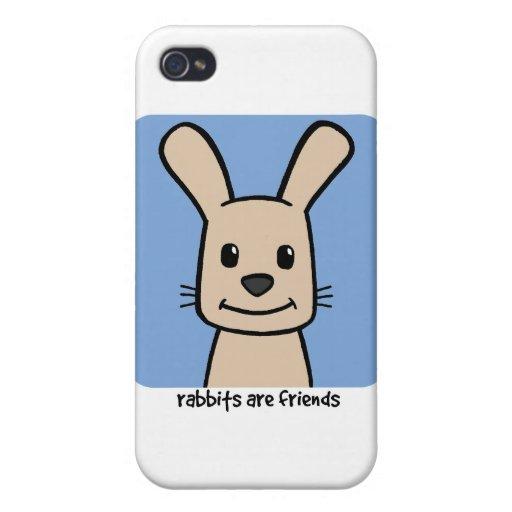 Los conejos son amigos iPhone 4 cárcasas