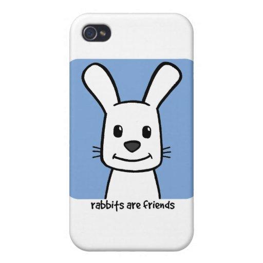 Los conejos son amigos iPhone 4 protectores