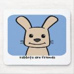 Los conejos son amigos tapete de raton