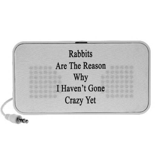 Los conejos son la razón por la que no tengo YE lo iPod Altavoz