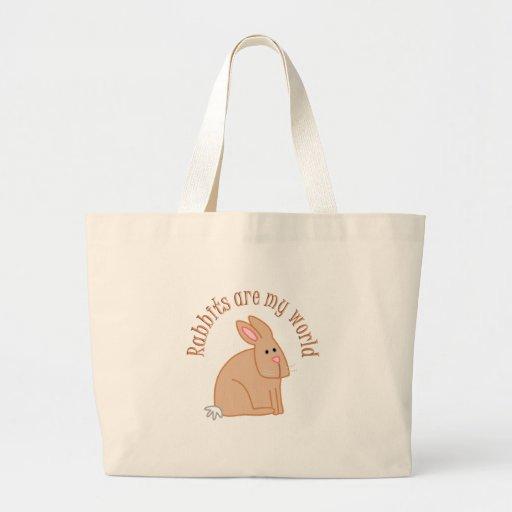 Los conejos son mi mundo bolsa lienzo