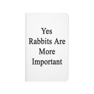 Los conejos son sí más importantes cuaderno grapado