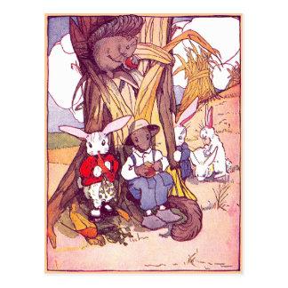 Los conejos y las ardillas almuerzan postales