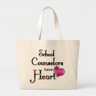 Los consejeros de la escuela tienen corazón bolsa tela grande