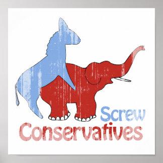 Los conservadores del tornillo se descoloraron impresiones