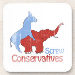 Los conservadores del tornillo se descoloraron posavaso