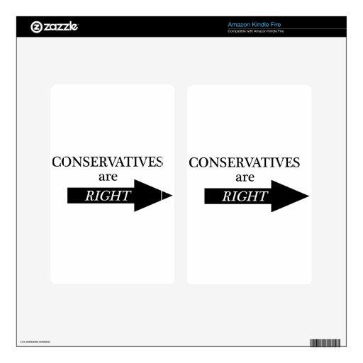 Los conservadores tienen razón (la flecha) kindle fire pegatina skin