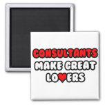 Los consultores hacen a grandes amantes iman