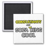 Los consultores son rey Cool del sofá Imán De Nevera