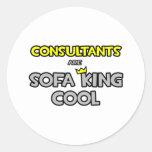 Los consultores son rey Cool del sofá Etiquetas Redondas