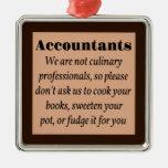Los contables, cocinan los libros ornamento para arbol de navidad