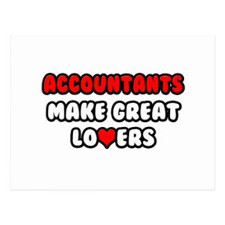 Los contables hacen a grandes amantes tarjetas postales
