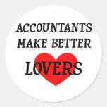 Los contables hacen a mejores amantes etiquetas redondas
