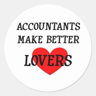 Los contables hacen a mejores amantes pegatina redonda