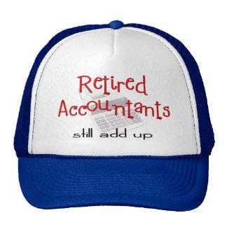 """Los contables jubilados """"todavía añaden para arrib gorros bordados"""