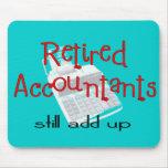 """Los contables jubilados """"todavía añaden para arrib alfombrillas de ratón"""