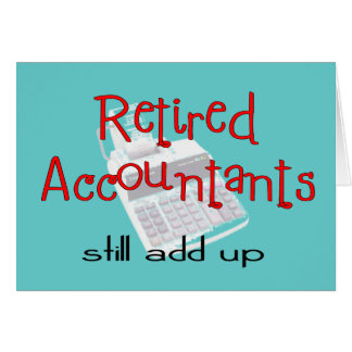 """Los contables jubilados """"todavía añaden para arrib tarjeta de felicitación"""