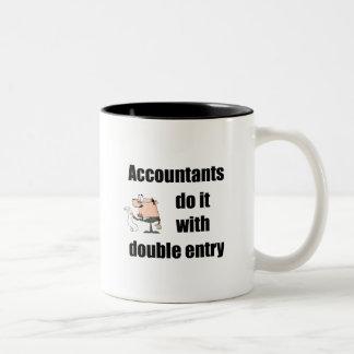 los contables lo hacen con la entrada doble taza dos tonos