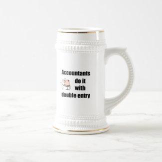 los contables lo hacen con la entrada doble tazas de café
