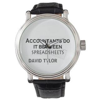 ¡Los contables lo hacen! Relojes De Pulsera