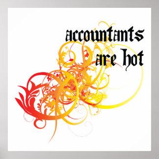 Los contables son calientes impresiones