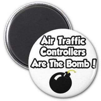 ¡Los controladores aéreos son la bomba! Imán Redondo 5 Cm