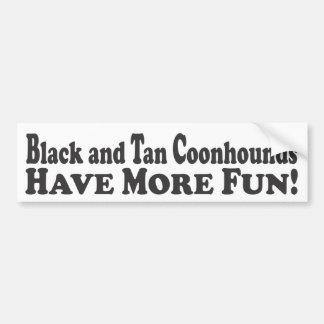 ¡Los Coonhounds negros y del moreno se divierten m Pegatina Para Auto