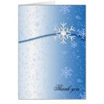 Los copos de nieve de lujo del invierno le felicitaciones