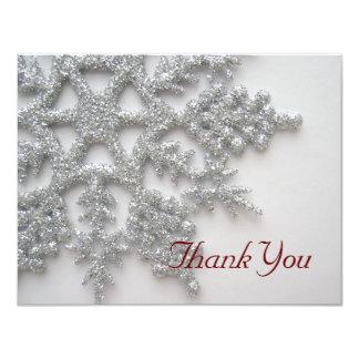 Los copos de nieve de plata le agradecen cardar comunicado personal