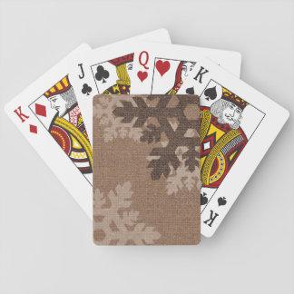 Los copos de nieve diseñan la diversión elegante barajas de cartas