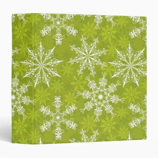 """Los copos de nieve modelan en verde carpeta 1 1/2"""""""