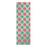 Los copos de nieve verdes rojos en círculos en la  plantillas de tarjetas de visita