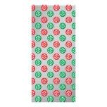 Los copos de nieve verdes rojos en círculos en la  tarjetas publicitarias personalizadas